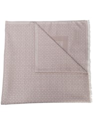 Givenchy Logo Printed Scarf Neutrals