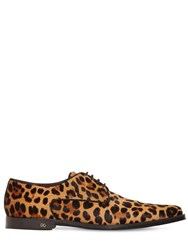 Dolce And Gabbana 25Mm Millennial Printed Pony Skin Shoes Brown