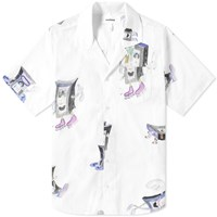 Soulland Short Sleeve Vhs Print Vacation Shirt White