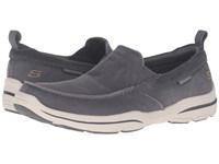 Skechers Relaxed Fit Haper Delen Gray Washed Canvas Men's Shoes
