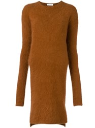 Thierry Mugler Sweater Dress Brown