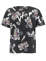 People Tree Zandra Rhodes Cubes Tee Black
