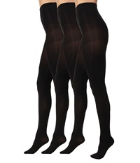 Hue Luster Tights 3 Pair Pack Black Black Black Hose