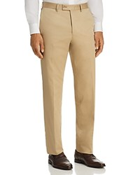 Bloomingdale's The Men's Store At Regular Fit Stretch Dress Pants 100 Exclusive Tan