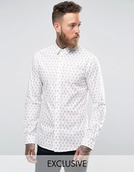 Noose And Monkey Cross Print Shirt White Camel Cross