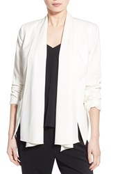 Trouve Women's Trouve Convertible Open Front Jacket White Snow