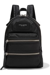 Marc Jacobs Biker Mini Leather Trimmed Shell Backpack Black