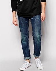 Bellfield Dylan Jeans In Straight Fit Blue