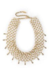 Luv Aj Cosmic Gold Tone Crystal Necklace Gold