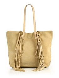 Linea Pelle Stevie Fringed Suede Tote Camel