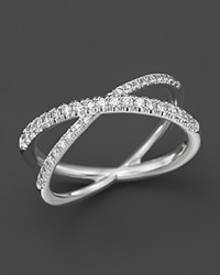 Roberto Coin 18K White Gold Diamond Crossover X Ring .28 Ct. T.W.