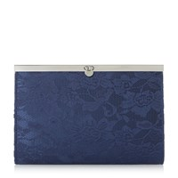 Linea Briarna Lace Pennylock Clutch Navy
