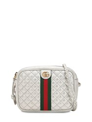 Gucci Small Quilted Metallic Leather Bag Silver