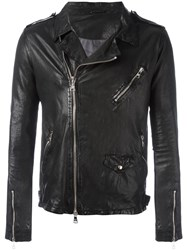 Giorgio Brato Chest Pocket Biker Jacket Black