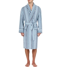 Paul Smith Multi Stripe Dressing Gown Blue