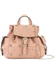 Red Valentino Mini Star Stud Backpack Pink Purple