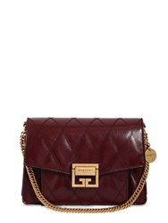 Givenchy Small Gv3 Leather Matelasse Shoulder Bag Aubergine
