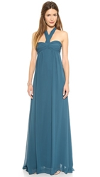 Joanna August Tatum Long Strapless Gown Sea Of Love