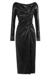 Marc Jacobs Satin Dress With Gathered Detail Black