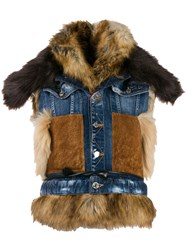 Dsquared2 Mixed Material Denim Gilet 60