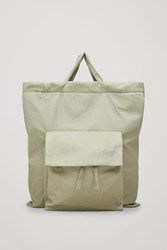 Cos Gathered Tote Bag Green