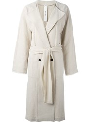 Damir Doma Double Breasted Coat Nude And Neutrals