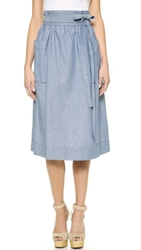Jill Stuart Juliette Denim Skirt Ink