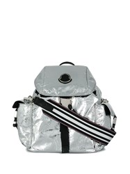 Moncler Metallic Backpack Silver