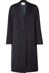 Vince Crepe Coat Midnight Blue