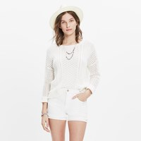 Madewell High Rise Denim Shorts In Pure White