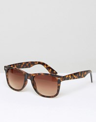 D Struct Square Sunglasses In Brown Brown