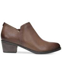 Naturalizer Zarie Booties Women's Shoes Tan Leather