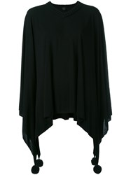 Jean Paul Gaultier Vintage Poncho Sweater Black