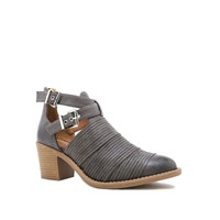 Qupid Tobin Casual Buckle Boot Grey
