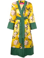 F.R.S For Restless Sleepers Floral Print Robe Coat Yellow