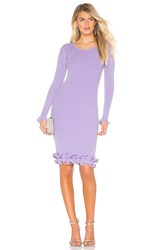 Milly Wired Edge Fitted Dress Lavender
