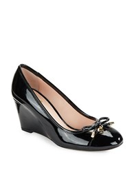 Kate Spade Kacey Patent Leather Wedges Black