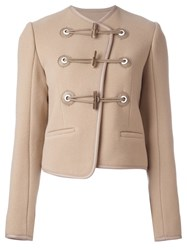 Carven Toggle Jacket Nude And Neutrals