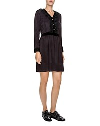 The Kooples Embellished Polka Dot Dress Black