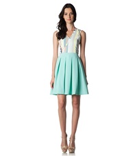 Nife Summer Dress Celadon Pattern Mint Turquoise