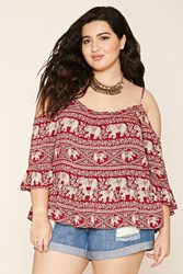 Forever 21 Plus Size Elephant Print Top