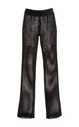Sally Lapointe Lasercut Velour Skinny Pant Black