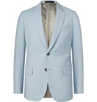 Paul Smith Light Blue Soho Slim Fit Wool And Mohair Blend Suit Jacket Light Blue