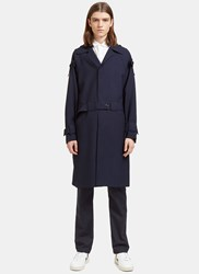 Marni Buttoned Tab Trench Coat Navy