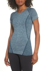 Zella Stand Out Seamless Training Tee Teal Abyss
