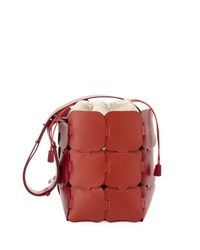 Paco Rabanne Large Leather Hobo Mini Bag Pink Red Pink Red