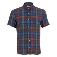 Oliver Spencer Men's Short Sleeved Eton Shirt Pilford Multi