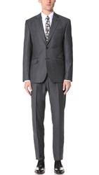 Hardy Amies Clear Cut Twill Brinsley Suit Charcoal
