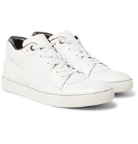 Lanvin Perforated Leather Sneakers White