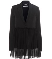 Givenchy Wool Jacket With Silk Black